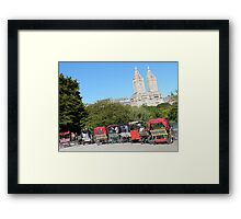 NYC Central Park Carriages Framed Print