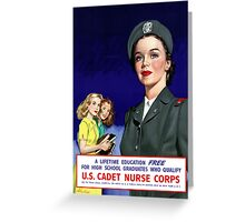 US Cadet Nurse Corps Greeting Card