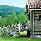 Old stable in Valdres - Norway by Arie Koene