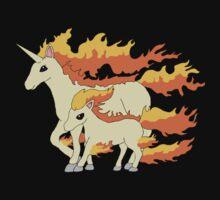 Rapidash & Ponyta by xmac123