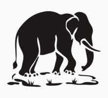 Asian Elephants Ahead / Thai Elephant Trekking Traffic Sign Kids Clothes