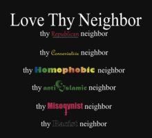 Love Thy Neighbor (dark color) by Daire Ó'Hearáin-Olsen