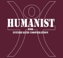 Humanist for Interfaith Cooperation (dark color) by Daire Ó'Hearáin-Olsen