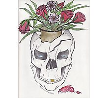Flowers In My Skull Photographic Print
