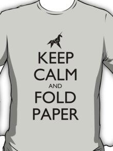 Keep Calm and Fold Paper (Unicorn) T-Shirt