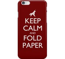 Keep Calm and Fold Paper - Unicorn / Red iPhone Case/Skin