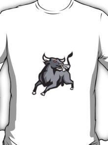 Raging Bull Attacking Charging Retro T-Shirt