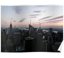 New York Sunset Poster