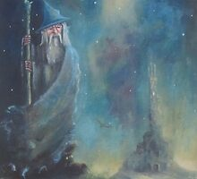 Gandalf-Escape From Orthanc by Joe Gilronan