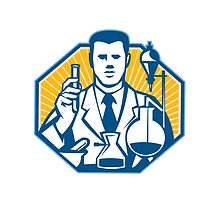 Scientist Lab Researcher Chemist Retro by patrimonio