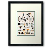 Bike gear Framed Print