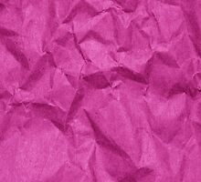 Wrinkled Crumpled Paper Texture - Pink  by sitnica