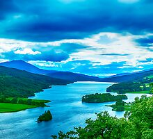 Queens View Loch Tummel by Chris Thaxter