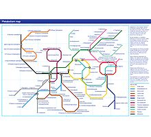 Metabolism - Tube Map Photographic Print
