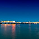 Brighton beach after sunset by mjamil81