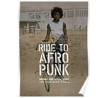 Red Bike & Green Tour to AfroPunk - Poster Poster