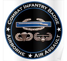 CIB Airborne Air Assault Poster