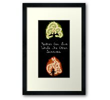 Neither Can Live While The Other Survives Framed Print