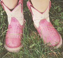 Little Girl Cowgirl Pink Boots by Kimberose
