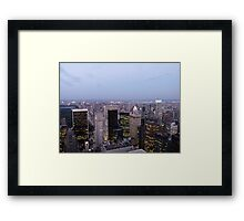 NYC Skyscrapers at Twilight Framed Print
