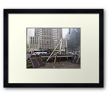 NYC Manhattan Streetscape with Angles Framed Print