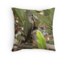 Anna's Hummingbird~ Mothers Touch Throw Pillow