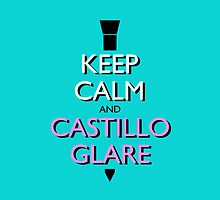 Keep Calm and Castillo Stare (Miami Vice - Aqua) by olmosperfect