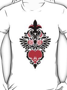Rose, Skull and Wings Demask T-Shirt