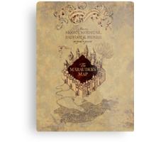 Marauders Map Harry Potter Metal Print