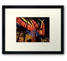 Flamingo Lights Framed Print