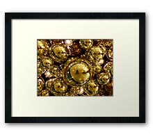 Gold Bubbles Framed Print