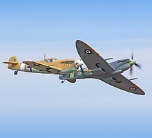 Breaking Left - Duxford Flying Legends 2013 by Colin J Williams Photography