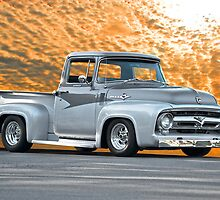 1956 Ford F100 Custom Pick-Up Truck IV by DaveKoontz