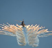 Sea King HC4 Popping Flares by Andy Jordan