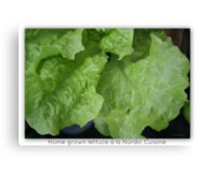 Home Grown Lettuce á lá Nordic Cuisine Including Ant Canvas Print