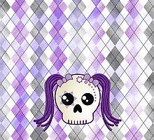 Kawaii Goth Cyberpunk Skull by ArtformDesigns