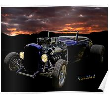 Low Boy Roadster Meets Morning's Rosy Glow Poster