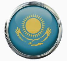 Kazakhstan Flag by 3Dflags