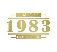 1983 Birthday Limited Edition by thepixelgarden