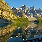 Moraine Lake Reflections by Luann wilslef