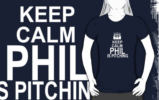 Keep Calm - Phil is pitching (dark color) by Daire Ó'Hearáin-Olsen