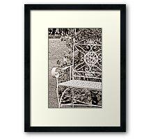 Vintage Looking Chair - Digital Oil Framed Print