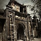 Vietnam - Cham Island - Gate to small Village by Malcolm Heberle