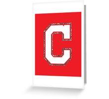 Cleveland Glitter C Greeting Card