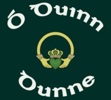 Dunne Surname - Dark Shirts with Claddagh by Mike Collins