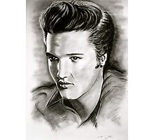 Elvis in black and white Photographic Print