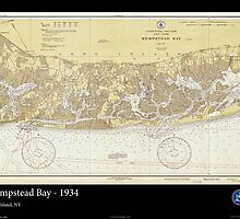 Vintage Print of Hempstead Bay Long Island- 1934 by aocimages