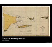 Vintage Print of Virgin Islands Pass - 1908 Photographic Print