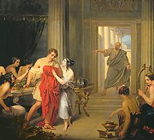 Alcibiades amongst the hetaerae by Bridgeman Art Library