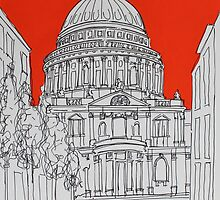 St Pauls ( Orange ) by Adam Regester